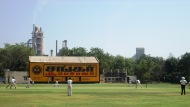 Cricket at the India Cements Ground.