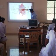 Biology class by a visiting teacher