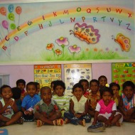 Kindergarten activities room