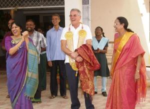 Sri Jayendra Golden Jubilee School Nigel Wray Visit 2